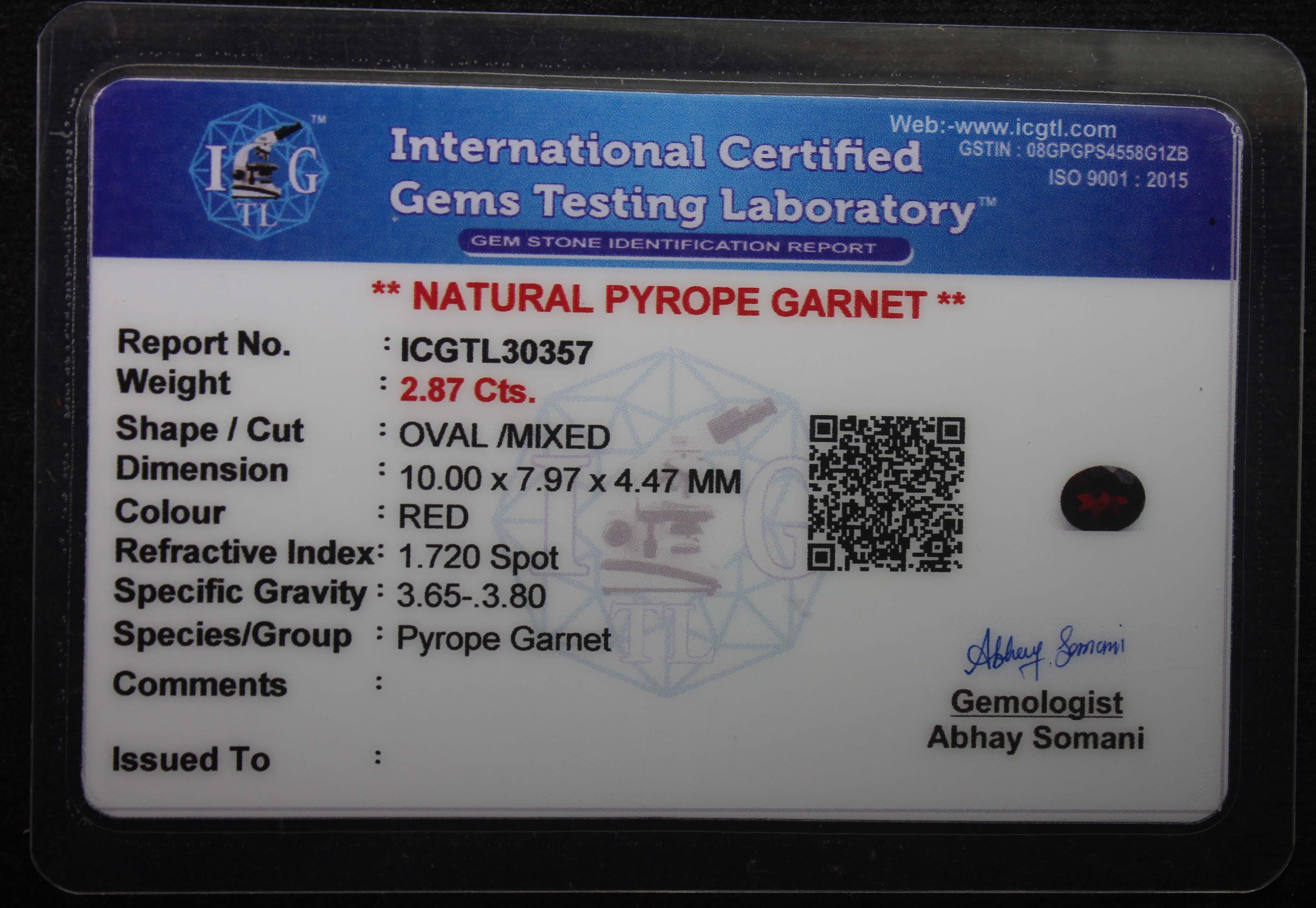 Garnet 2.87 Ct - Image 5 of 5