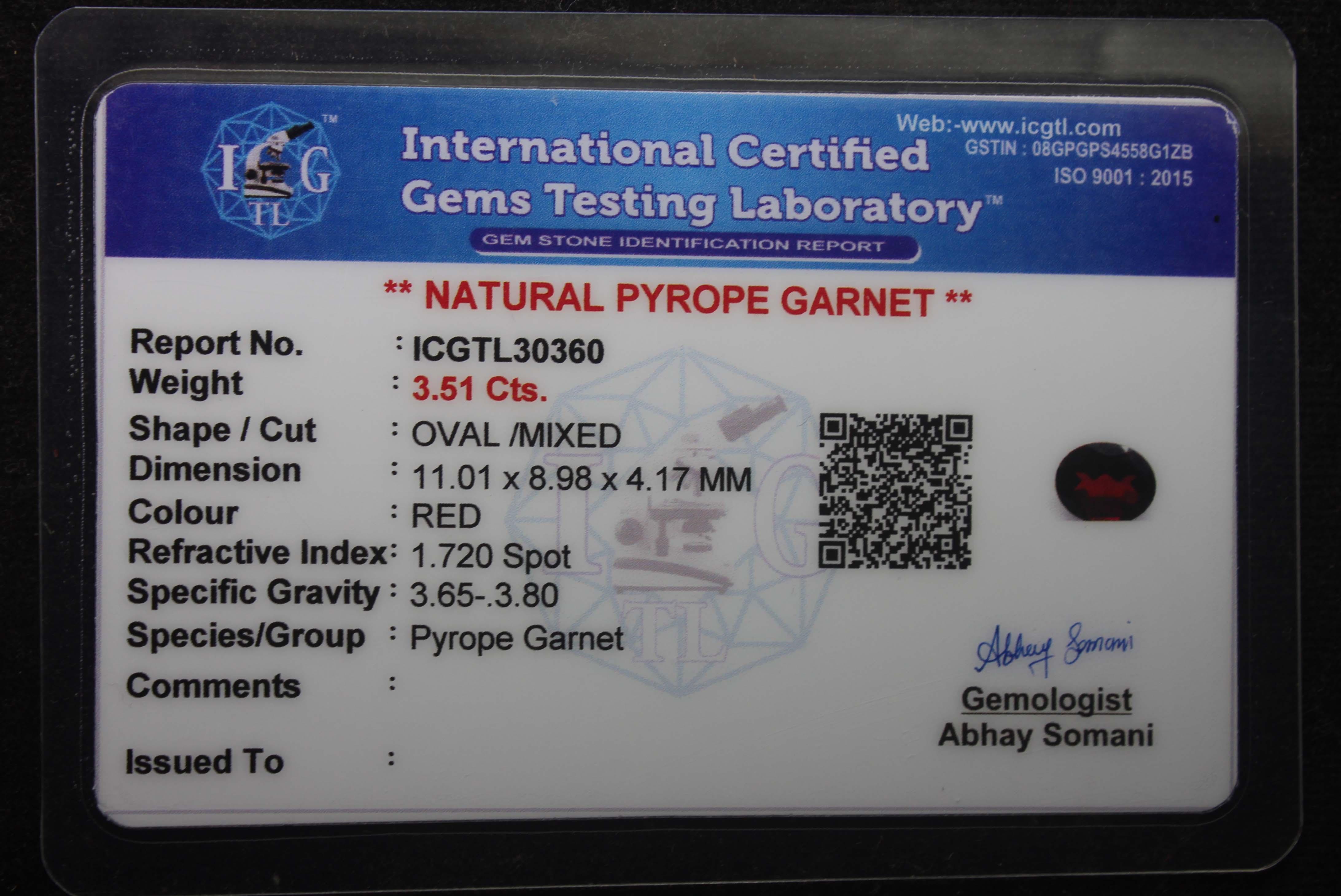 Garnet 3.51 Ct - Image 5 of 5
