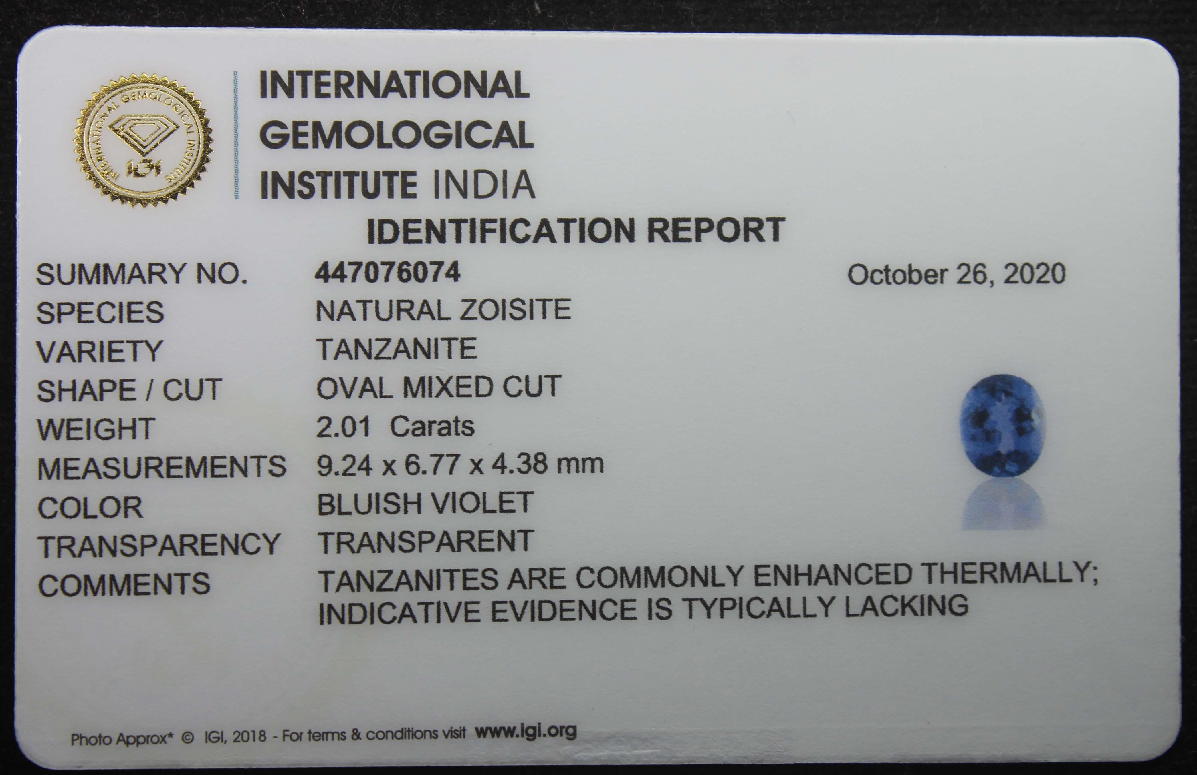 Tanzanite, 2.01 Ct - Image 6 of 6
