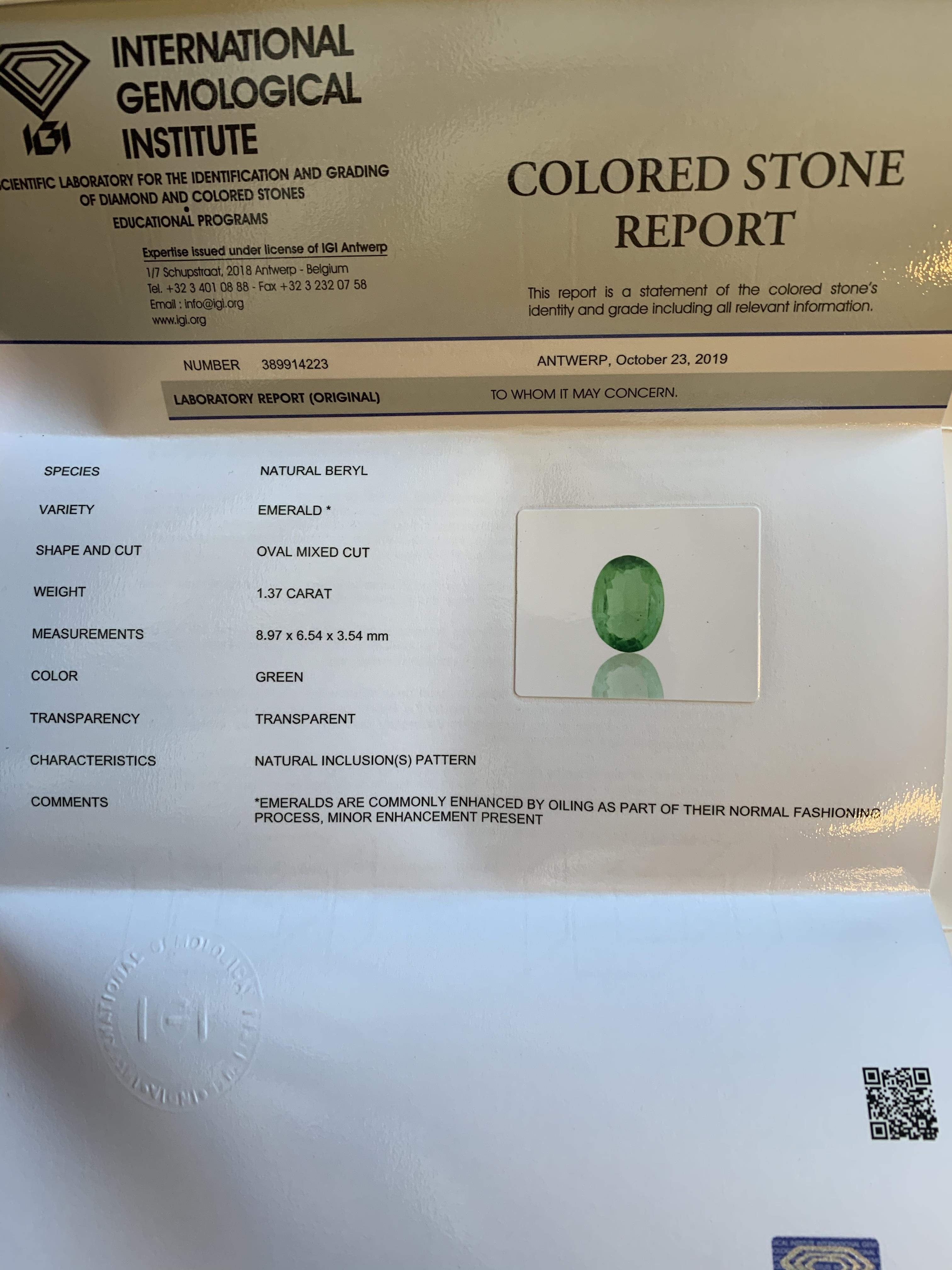 Emerald, 1.37 Ct - Image 6 of 6
