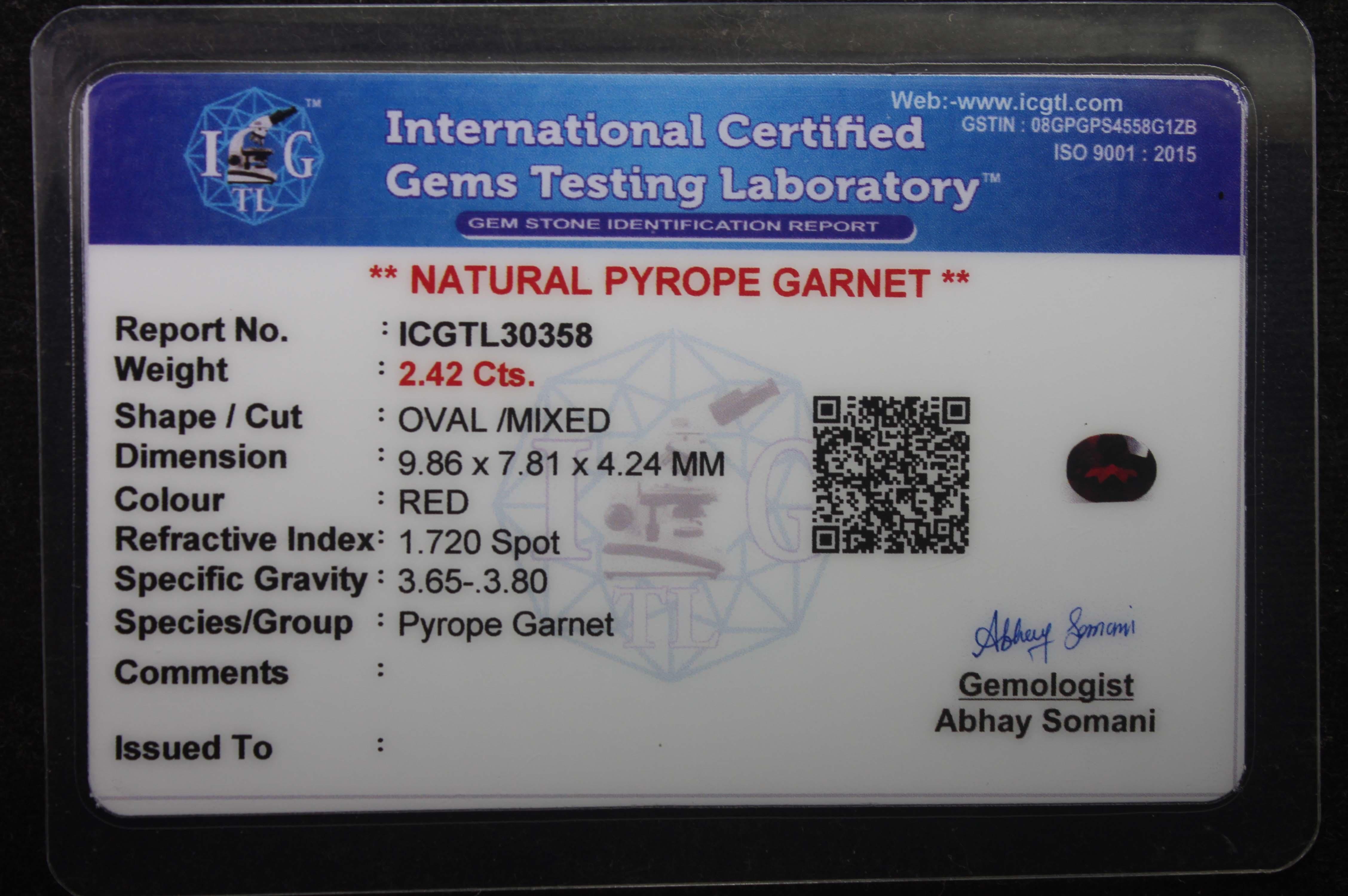 Garnet 2.42 Ct - Image 5 of 5