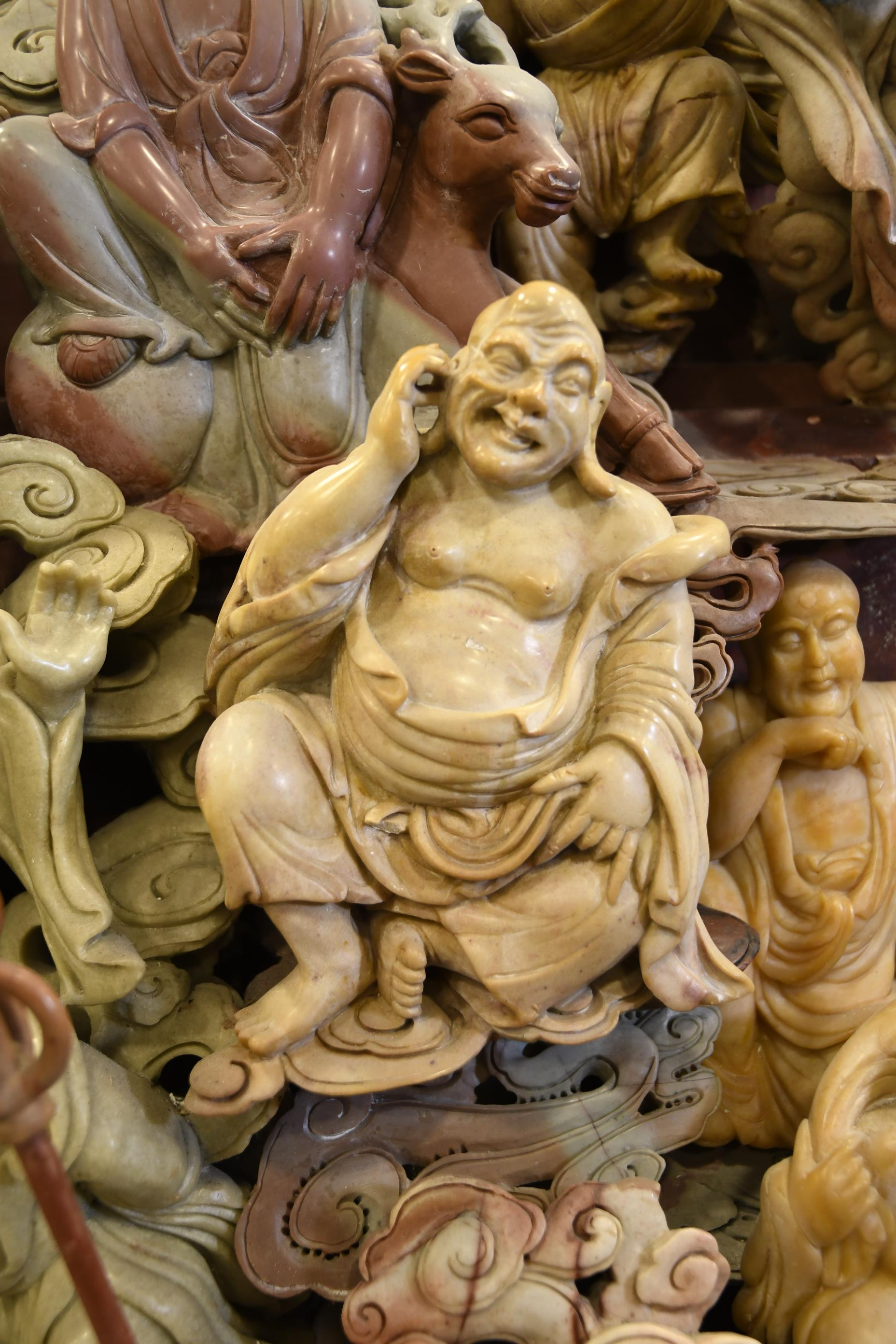 Very Large Chinese Stone Hand Carving of Buddha's - Image 6 of 13