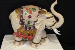 Large Handmade Porcelain Elephant