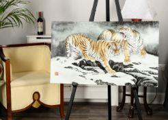 Stunning Original Painting on Porcelain Panel