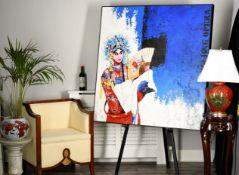 Stunning Original Large Chinese Oil on Canvas (Beijing Opera)
