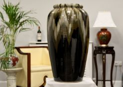 "Stunning 28"""" Handmade Original Oriental Vase"
