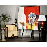 Fabulous Original Large Chinese Oil on Canvas