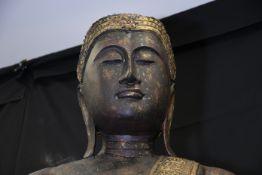 9ft Hand Carved Wooden Thai Goddess