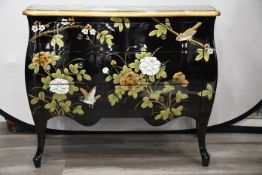 Black and Gold Hand Painted Chest