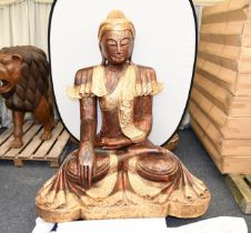 Thai Sitting Wooden Buddha