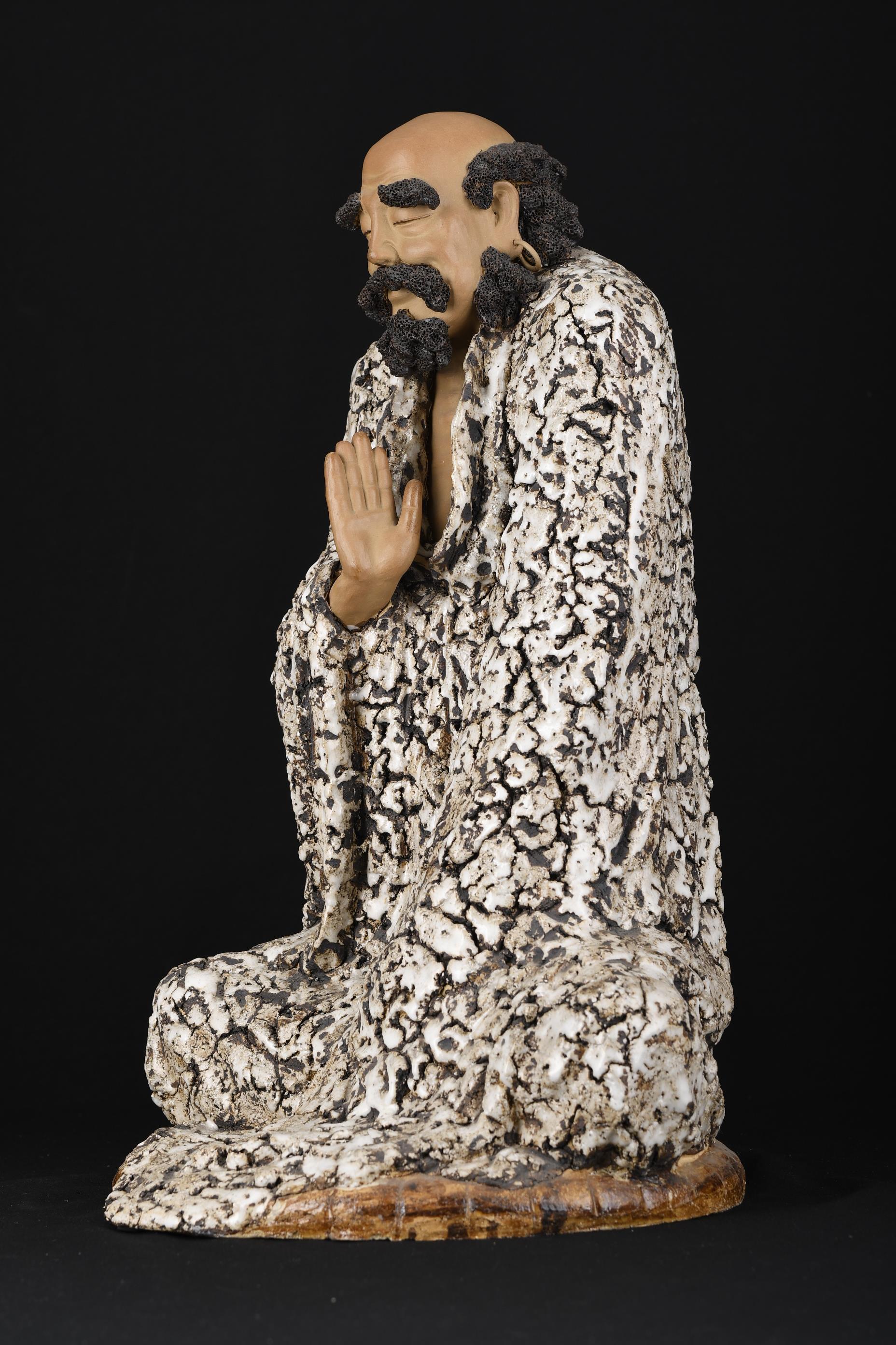 "Large 24"""" Original Handmade Shiwan Figure - Image 3 of 11"