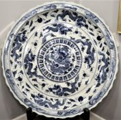 Incredible Hand Painted Chinese Porcelain Charger Plate