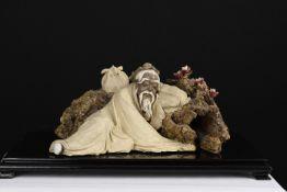 Original Fine Hand Sculptured Shiwan Man on Plinth