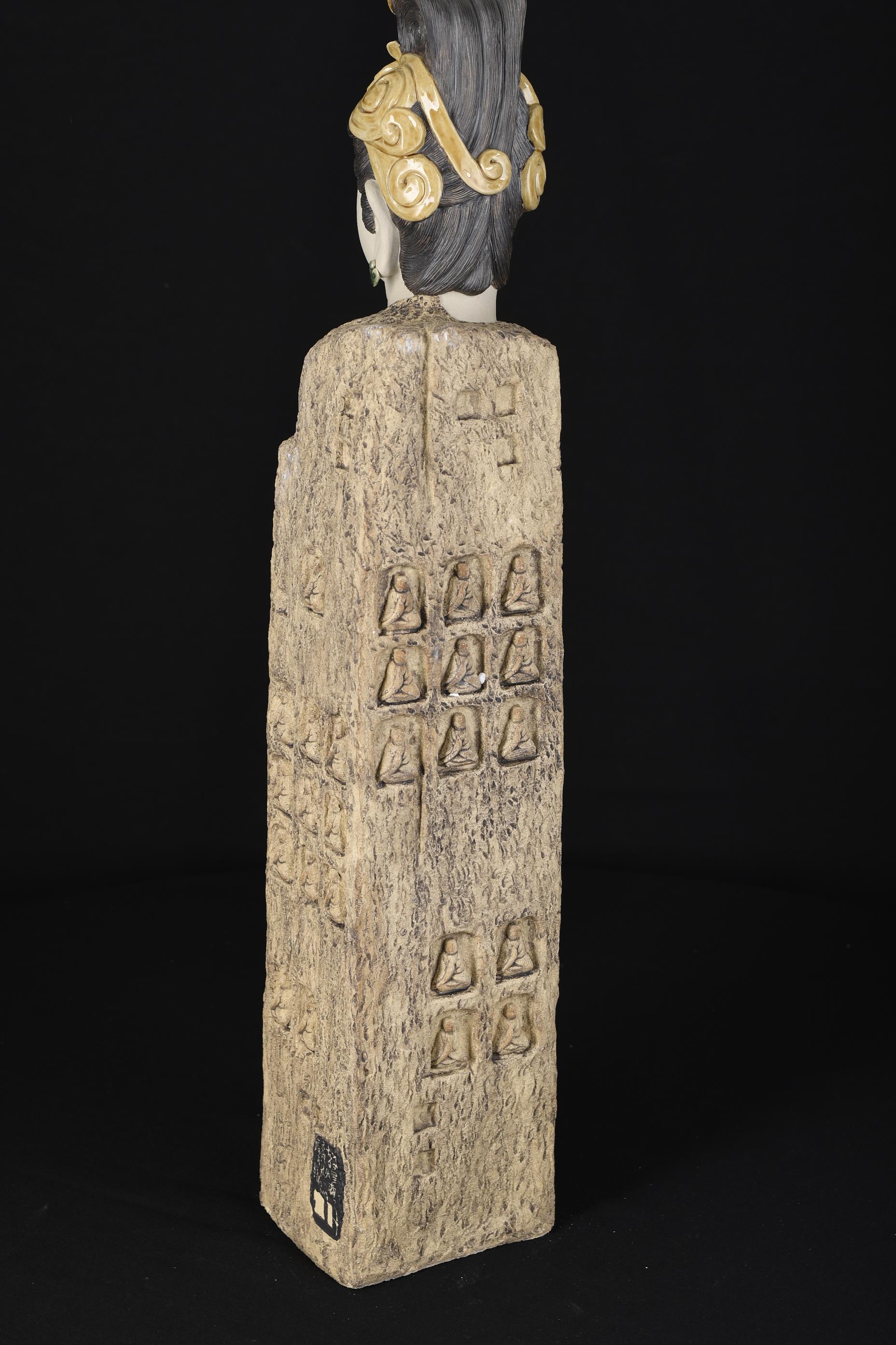 2ft High Hand Sculptured Shiwan Goddess - Image 5 of 8