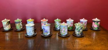 Twelve Japanese Porcelain Teacups
