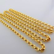 50 cm (19.7 in) Necklace. In 14K Yellow Gold