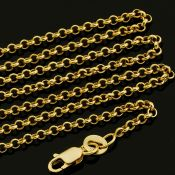 50 cm (19.7 in) Rolo Chain Necklace. In 14K Yellow Gold