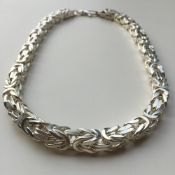 10mm Mens Byzantine King Box Chunky Chain Necklace 925 Sterling Silver 350 GR 24 inch - 65cm