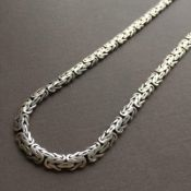 65 Cm / 26 In Mens Bali King Byzantine Chain Necklace 925 Sterling Silver