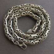 Mens King Byzantine Chain Necklaces Round 8mm 161GR , 22 inch - 55cm , 925 Silver Sterling
