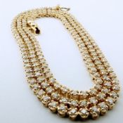 14K 2,02 ct Diamond Tennis Eternity Necklace