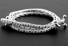 14K 0,60 ct Diamond Tennis Bracelet (Cube)
