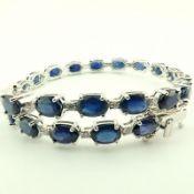 14K Diamond & Sapphire Bracelet 13,74 ct Total