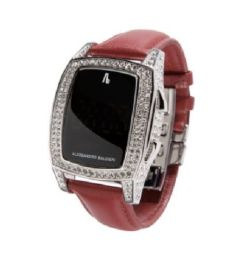 RRP £295 - Alessandro Baldieri End Of Time Swarovski Clear Red Watch