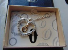 50 Silver Coloured Heart Necklaces In A Presentation Box RRP £7.99 Each.