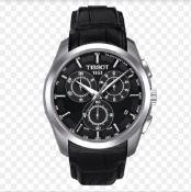 Tissot Couturier Men's Black Leather Strap Chronograph Watch T035.617.16.051.00
