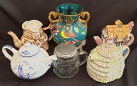 Vintage Parcel of Ceramics Includes Novelty Tea Pots