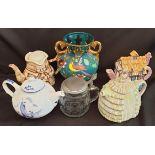 Vintage Parcel of Ceramics Includes Novelty Tea Pots