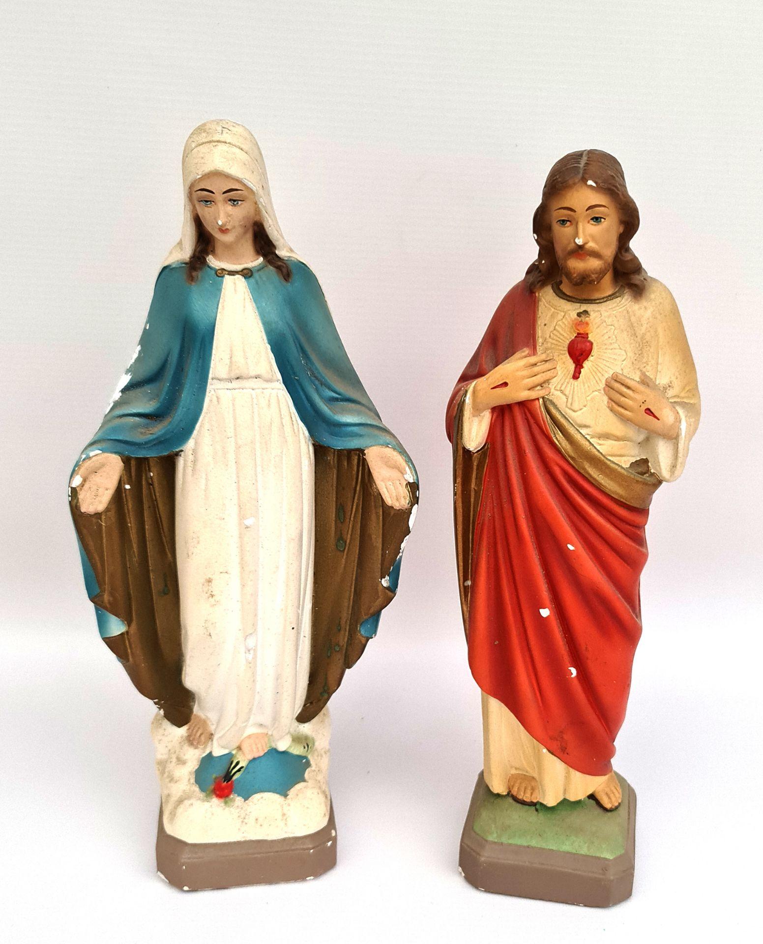 Vintage Mary & Joseph Religious Plater Figures