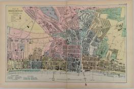 Antique Map Plan of Brighton 1899 G. W Bacon & Co