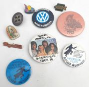 Vintage 10 x Badges Includes ABBA 1979 USA & Europe Tour