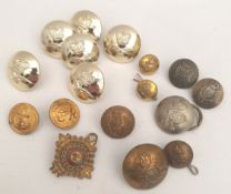 Parcel of Military Buttons 17 in Total