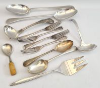 Vintage Parcel of Flatware Includes Serving Spoons