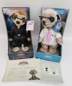 Retro Pair Collectable Meerkat Figures in original Boxes