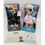 Retro Pair Collectable Meerkat Figures in original Boxes