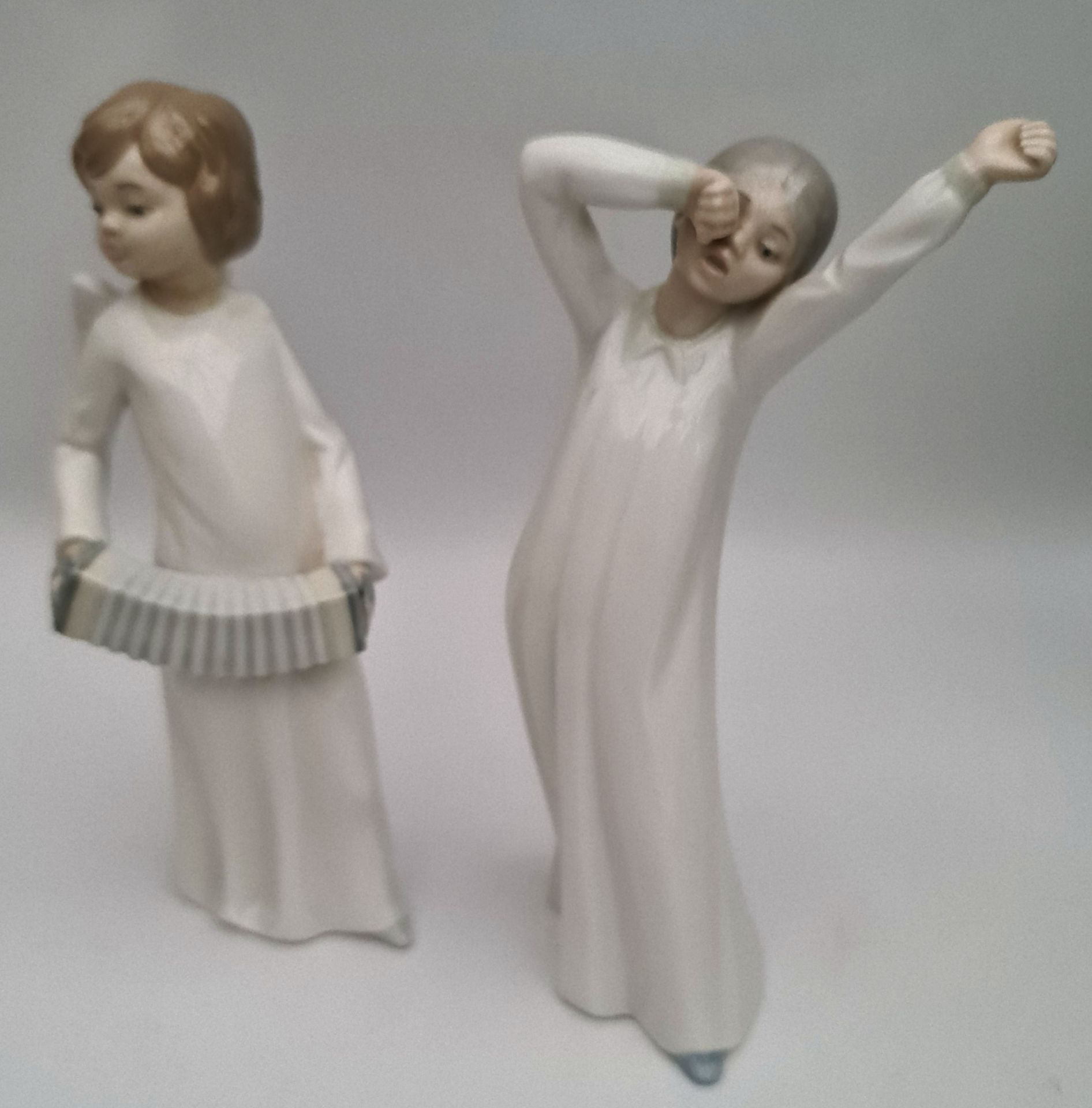 Vintage Pair of Lladro Figures 8 inches tall