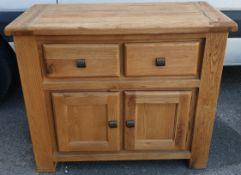 Large Rustic Oak Sideboard With Plenty Of Storage