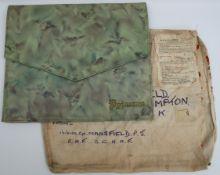 Vintage Snake Skin Pyjama Case in Post WWII Military Envelope.