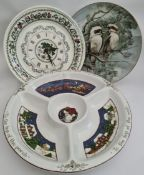 Vintage Portmeirion Christmas Dip Plate Clock & Noritake Plate