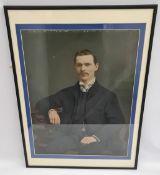 Antique Print of Edwardian Gentleman Framed & Glazed
