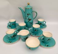 Vintage Retro Palissy Pinewood Coffee Service