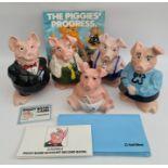 Vintage Original 5 Set Westminster Wade Piggy Banks Includes Original Literature