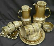 Vintage Beswick Coffee Service Zorba Pattern 18 Items in Total