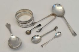 Antique Parcel of 8 Sterling Silver Spoons etc