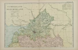 Antique Map Cumberland & Westmorland 1899 G. W Bacon & Co