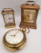 Three Brass Clocks Includes Carriage Clock